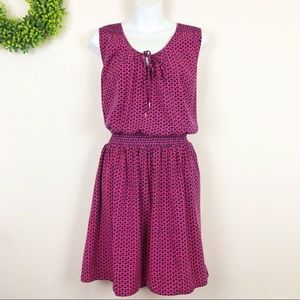 GAP || Pink Smocked Keyhole Tie Dress XL
